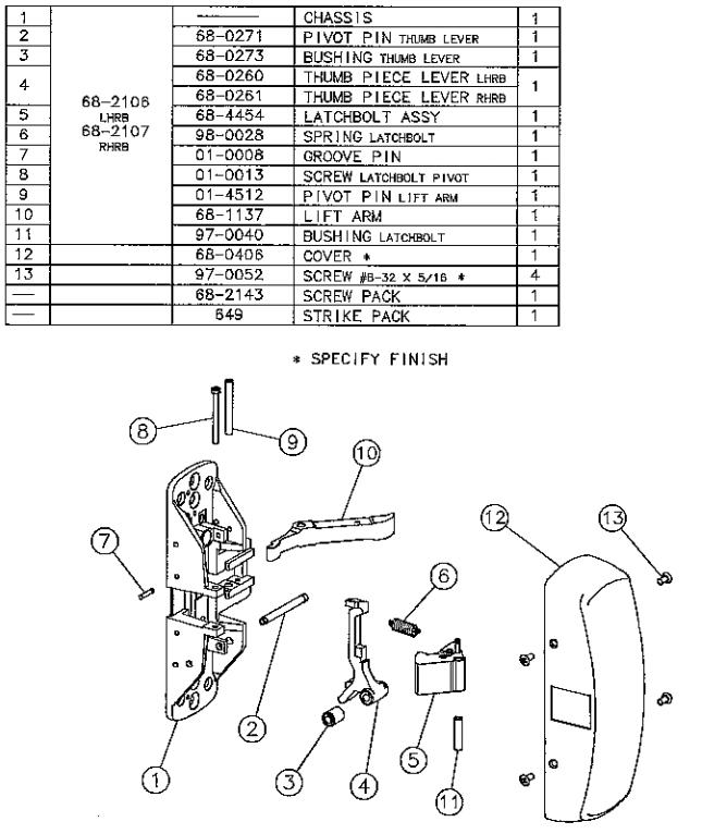 sargent 80 series parts diagram