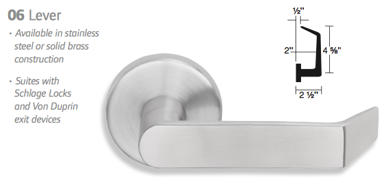 Schlage L9070p 06b Classroom Mortise Lock