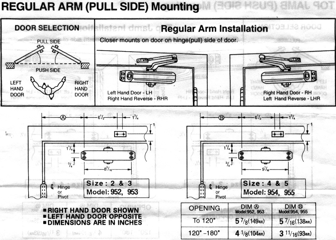 Door Closer Adjustment Amp Grade 1 Door Closers Templates