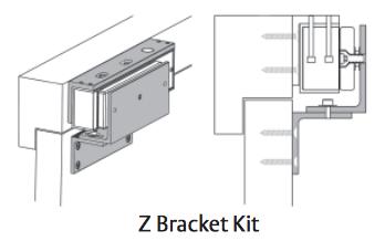 Securitron Z Vm600 Z Bracket Kit For Vista Maglock Vm600